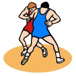 Wrestlers from Microsoft Publisher Clipart