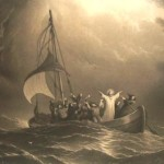 Jesus calms storm by dore in public domain